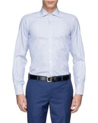 Turnbull & Asser Bengal Stripe Poplin Shirt blue - Lyst