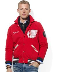 Ralph Lauren Polo Fleece Baseball Jacket - Lyst
