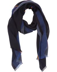 Paul Smith Colorblock Multipattern Knit Scarf - Lyst