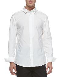 Alexander Wang Poplin Fly-Front Shirt - Lyst