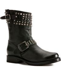 Frye Veronica Leather Biker Boots - Lyst
