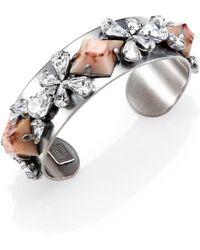 Dannijo Nellie Ii Crystal Cuff Bracelet - Lyst