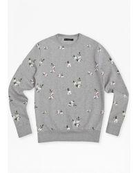 French Connection Blossom Print Sweater - Lyst