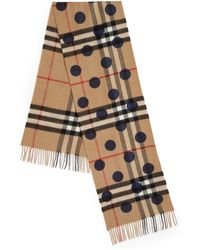 Burberry | Dot-print Giant Check Cashmere Scarf | Lyst