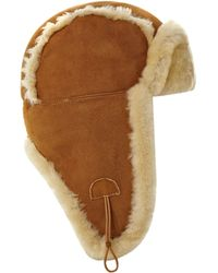 Ugg Shearling Aviator Hat - Lyst