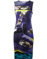Mary Katrantzou Printed Sleeveless Dress - Lyst