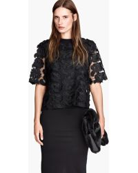 H&M Lace Top - Lyst