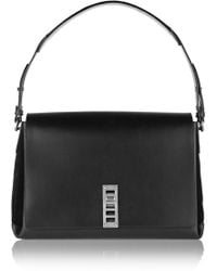 Proenza Schouler Elliot Leather and Suede Shoulder Bag - Lyst