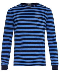 Polo Ralph Lauren Long-Sleeved Striped Jersey T-Shirt - Lyst