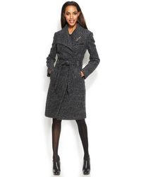 Ivanka Trump Belted Walker Coat with Brooch - Lyst