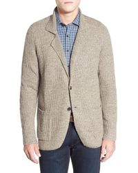 Borgo 28 - Rib Knit Cotton & Wool Sweater Jacket - Lyst