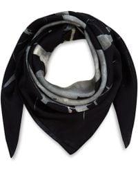 Weston - Black Septarian Silk Scarf - Lyst