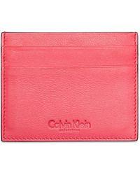 Calvin Klein Collection Soft Calf Card Holder - Lyst