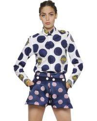 Kenzo Polka Dot Light Cotton Piqué Shirt - Lyst