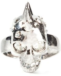 Alexander McQueen Mohican Skull Cocktail Ring - Lyst