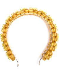 Simone Rocha Floral Bead Headband - Lyst