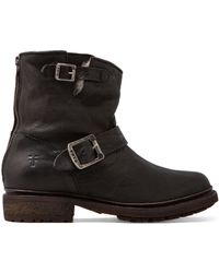 Frye Valerie 6 Motorcycle Lamb Shearling Lined Boot - Lyst