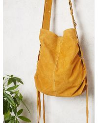 Free People | Womens Goldpoint Suede Bag | Lyst
