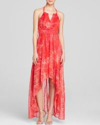 Laundry by Shelli Segal Gown - Printed Chiffon Halter - Lyst