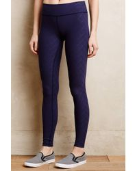 Beyond Yoga Blue Quilted Leggings - Lyst