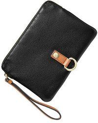 Gap - Leather Buckle Clutch - Lyst