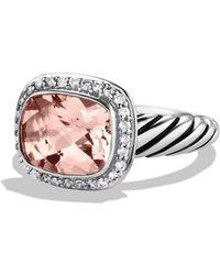 David Yurman Noblesse Ring With Morganite & Diamonds
