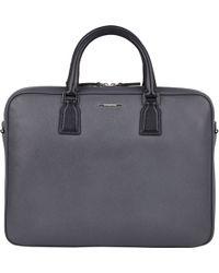 Ermenegildo Zegna - Saffiano Double-Handle Briefcase - Lyst
