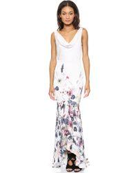 Haute Hippie Meadow Floral Gown Antique Ivory Multi - Lyst