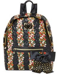 Betsey Johnson Be My Sweetheart Floral Backpack - Lyst