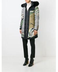 Emilio Pucci - Fox Fur Trim Print Padded Jacket - Lyst