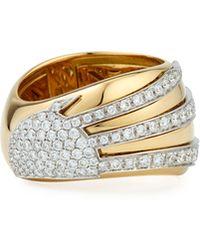 Miseno - 18k Gold Sun Ray Ring With Diamonds - Lyst