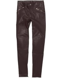 BLK DNM Cropped Leather Pant 1 - Lyst