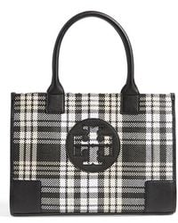 Tory Burch 'Mini Ella' Plaid Tote - Lyst