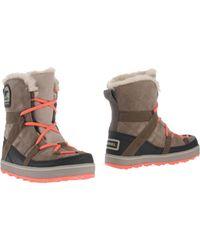 Sorel Ankle Boots khaki - Lyst