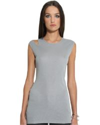 Sen Collection Sen Rosza Ribbed Tank In Slate gray - Lyst