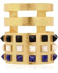 Herve Van Der Straeten Pyramids Bracelet gold - Lyst