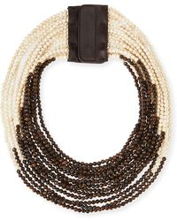 Brunello Cucinelli Riverstone Multi-strand Necklace - Lyst