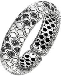 John Hardy Naga Lava Bold Flex Cuff With Black Sapphire - Lyst