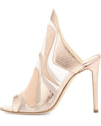 Alejandro Ingelmo | Metallic Mesh Watersnake High Heel Slide | Lyst