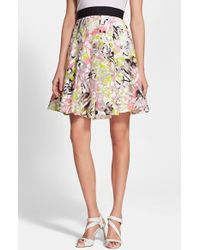 Milly Women'S Abstract Print Fil Coupe A-Line Skirt - Lyst