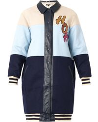 House Of Holland Sequinembellished Varsity Coat - Lyst