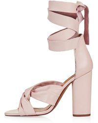 Topshop | Rosa Knotted High Sandals | Lyst