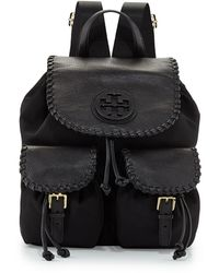 Tory Burch Marion Nylon Flap Backpack  - Lyst