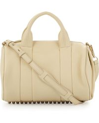 Alexander Wang Rocco Studbottom Satchel Bag Yellow - Lyst