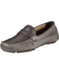Cole Haan Trillby Metallic Leather Driver - Lyst