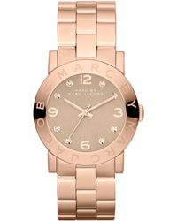 Marc By Marc Jacobs Women'S Amy Rose Gold-Tone Stainless Steel Bracelet 37Mm Mbm3221 - Lyst