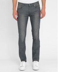 M.studio Grey Léo Slim-fit Jeans gray - Lyst