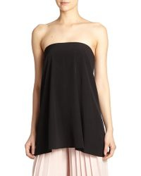 Tibi Simone Silk Strapless Top - Lyst