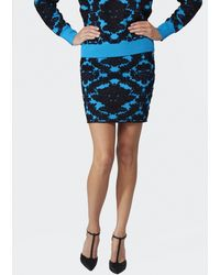 House Of Holland Brocade Knitted Skirt - Lyst