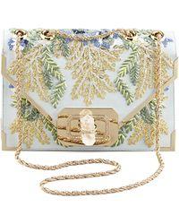 Marchesa - Valentina Floral Embroidered Envelope Clutch Bag - Lyst